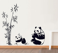 Chinese style bamboo wall stickers sofa tv sticker