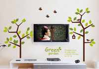 Ultralarge three generations of wall stickers sofa tv lovers