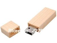 Long Beige Wood USB Flash Drive 2GB 4GB 8GB 16GB 32GB 100% full capacity
