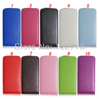 99$: 50pcs/lot Cheap wholesale! 10 items Colourful Leather Flip Cover for iPhone 5 Case, DHL Free Shipping