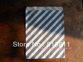 Navy Blue Stripe Paper Favor Bags ,Wedding Favour Packaging ,Cheap Medium Candy Goodie Bags,200pcs/lot Free Shipping