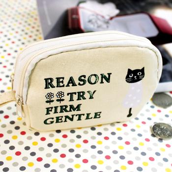 2013 cat double handle wallet fresh women's small portable key mobile phone bag wallet