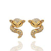 Free shipping,18k gold plated earring,High quality Rhinestone Crystal earrings,wholesale fashion jewelry earrings 18krgpe435