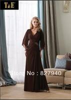 New Style spaghetti straps sleeveless pleat floor-length chiffon mother of the bride dresses