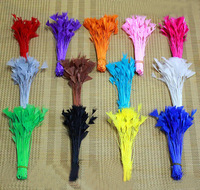 200PCS/LOT 10-15cm Feather Stripped Coque Triangle Bunch - Multicolor - Craft Millinery Fly Fishing  FREESHIPPING