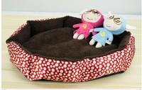 Octagonal Pet nest , dot kennel, berber fleece mat cat litter cotton nest teddy bed, unpick and wash