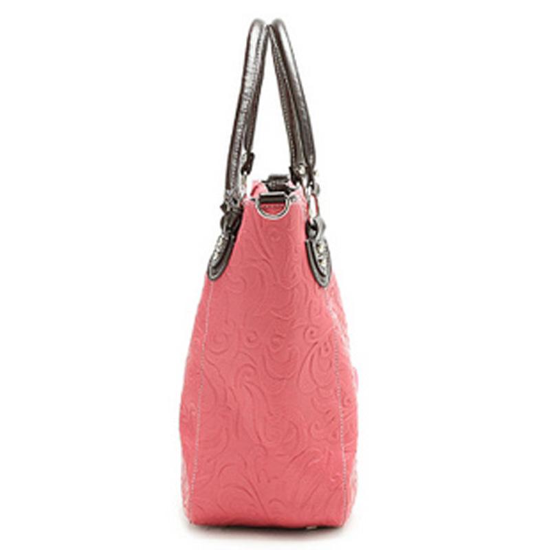 New Fashion Pink Totes Charming Cherry Korea Women's Ladies PU Leather Summer Hasp Messenger Handbags, Free & Drop Shipping(China (Mainland))