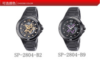 Free shipping Casima superd seris luxury women purple fairy  5 star watch SP-2804-B2/B9,calendar,waterproof 50 m