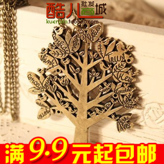 E4057 queer accessories fashion vintage bird christmas tree letter necklace(China (Mainland))