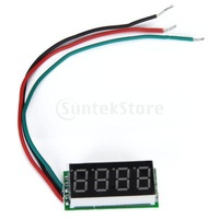 Free Shipping 0.36inch 4 Digit Digital Panel Voltmeter 0-33V Red LED Voltmeter