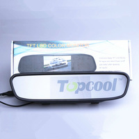 New 4.3 inch video input Color Rear View Rearview DVD Monitor car mirror free shipping