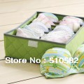 Sales Crazy! storage expert ! 7 slots non-woven bamboo charcoal underwear box  w/window 35*27*11cm  3pcs/lot 3 colors free