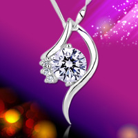 Birthday day gift girlfriend gifts 925 pure silver necklace female silver jewelry
