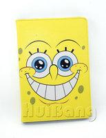 Brand Original Cute Cartoon Spongebob Ultra Thin Flip Stand Leather Case Smart Cover For Apple Ipad Mini 1/2 Retina Handags PT85