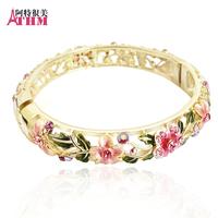 Bracelet female fashion vintage cutout accessories cloisonne gift