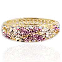 Bracelet female fashion crystal vintage cloisonne gift
