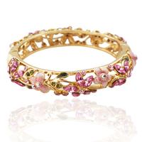 Flowers flower bracelet fashion crystal vintage cloisonne gift
