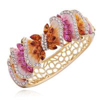 Banana leaf bracelet female fashion crystal vintage cloisonne gift