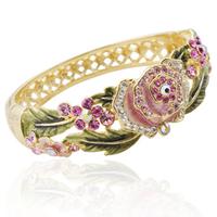 Spring flower bracelet fashion crystal vintage cloisonne gift