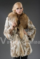 ON SALE Free shipping 2013 Brand New Vogue Rabbit fur wholeskin Coat Natural Fur Garment women High Quality IN STOCK