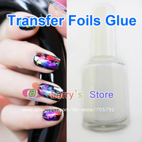 Free Shipping Hot Sale New 2 Pieces Nail Art Transfer Foils Glue Adhesive Gel For Wraps Sticker Acrylic Tips Decoration Aluminum