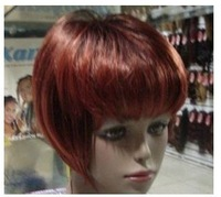 Beautiful New Short Copper Red Mixed Hair wigs free shipping w-95