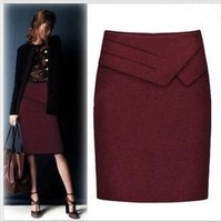 2013 spring and autumn medium skirt professional brushed bust skirt short skirt slim hip plus size female skirt step