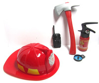 Fire hat toy parent-child fire hat axe walkie talkie fire extinguisher compass