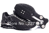 2013 latest fashion man running shoes,black&white&silver good quality shox shoes,Air Sneakers Sport Shoes Men Women Mix order
