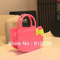 Big Size 9 colors new 2013 Hello Kitty Handbags bowknot sweety cute girls bags Zipper cosmetic case Single shoulder bag handbag