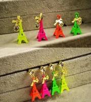 Free shipping (20 pieces/lot) France Eiffel Tower Earphone Jack Plug For Mobile Phone headphone jack plug