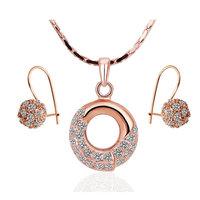 18K gold jewelry set fashion ring Genuine Austrian crystals italina jewelry set,Nickle free antiallergic bxru mqvl