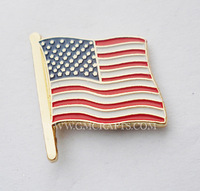 FREE SHIPPING American flag lapel pin, U.S. flag pin badge