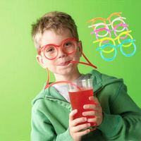 Fun glasses disposable pipette special wholesale cartoon children's creative arts crazy drinking straws