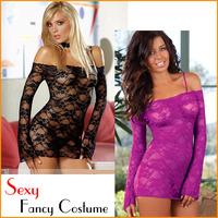 Fashion Lady's Sexy Fancy Costume Lingerie G-string Underwear Sleep Wear Skirt Set