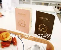 DHL Free shipping !Wholesale 100pcs/lot Passport Wallet Cover Case Card Holder Bag Ticket Container Pouch
