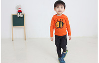 2013 spring children's clothing 100% cotton child clothes male female child long-sleeve T-shirt basic shirt