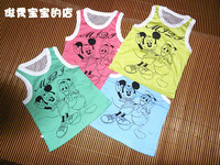 2 knitted t-shirt vest 2013 summer child baby boys clothing girls clothing