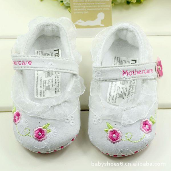 Venda quente !! Whlosale Flor sapatos de crianças , comprar sapatos baratos bebê China , sapatos de bebê Mothercare , primeiros caminhantes meninas , 6pairs / lote(China (Mainland))