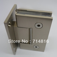wall mounting 90 degree satin nickel solid brass glass hinge, will to glass fixing shower spring hinge