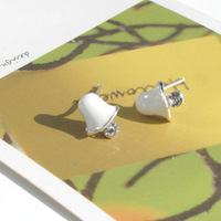 020404 sweet lily 925 silver stud earring small accessories
