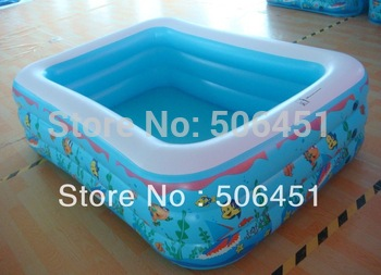 inflatable swimming tetragonum pool 120cm 3 ring ,can customized as your size and design