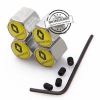 Free shipping!(4PCS)metal Tire Valve Stem Caps easy DIY decoration,Car Logo emblem Anti-theft Tire Valve Caps for RENAULT,VC152