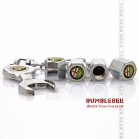 Free shipping(4PCS)metal Tire Valve Stem Caps easy  decoration,Car Logo emblem   Tire Valve Caps for ALFA ROMEO,VC226-GX