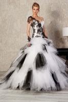 New arrival one shoulder lace princess bride of the royal wedding dress oblique formal dress