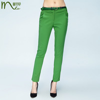 Mlc 2013 summer new arrival fashion ankle length trousers green pencil pants casual pants women's skinny pants