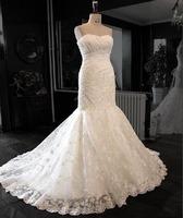 Slim hip lace train wedding dress bride fish tail wedding dress train wedding dress