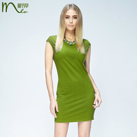 Mlc 2013 new arrival summer fashion 100% cotton slim one-piece dress women's sleeveless o-neck bag skirt
