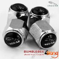 Free shipping!(4PCS)metal Tire Valve Stem Caps easy DIY decoration,Car Logo emblem   Tire Valve Caps for jaguar,VC291-GX