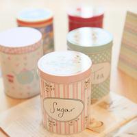 Free Shipping Small fresh rose garden storage box sealing multifunctional tea caddy big tin